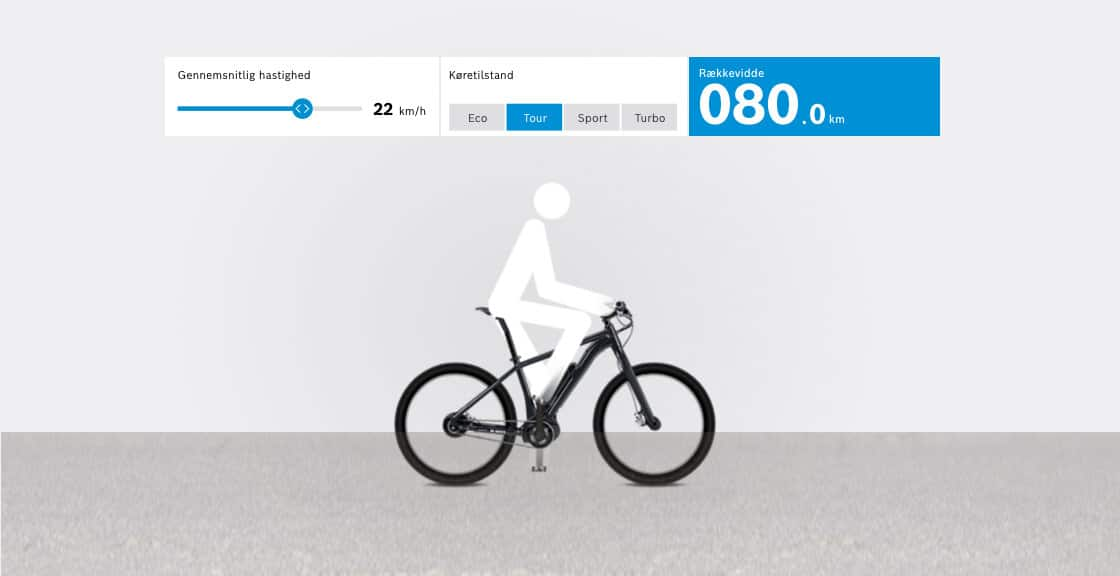 Bosch e-bike rækkevidde assistent